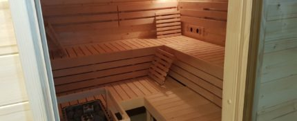Sauna v provozu